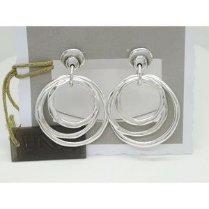 "UNO de 50 ""Hipster"" silver plated metal earrings"